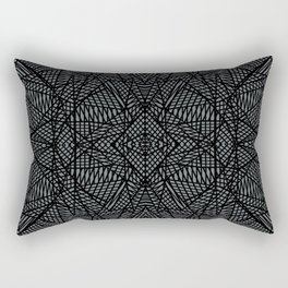 Ab Lace Black and Grey Rectangular Pillow