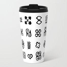 Adinkra Symbols Of West Africa Travel Mug