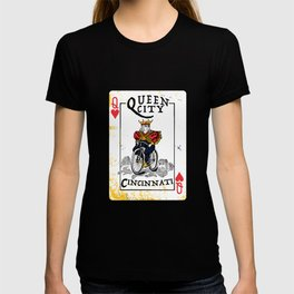 Queen of Cincinnati Bike Print T-shirt