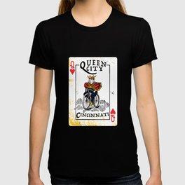 Queen of Cincinnati Bike Print T-shirt