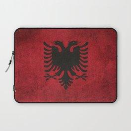 Old and Worn Distressed Vintage Flag of Albania Laptop Sleeve