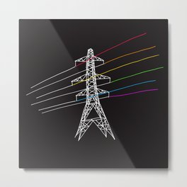 The Dark Side of Electricity Metal Print