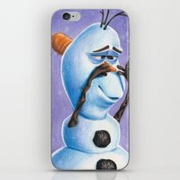 olaf iPhone & iPod Skins featuring Olaf by Dee J.