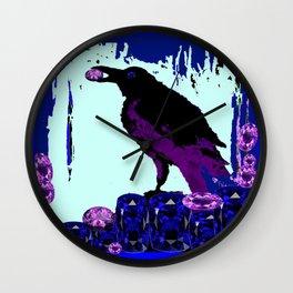Master Jewel Thief of Sapphires & Amethysts  Wall Clock