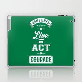 Lab No. 4 Sometimes Even Seneca Inspirational Quote Laptop & iPad Skin