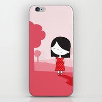 polkadot iPhone & iPod Skins featuring Polkadot Dress by ankepankedesign
