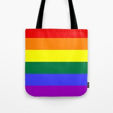 Gay Pride Flag Tote Bag