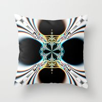 mod Throw Pillows featuring mod by Maureen Popdan