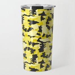 Army Camouflage Yellow Pattern Travel Mug