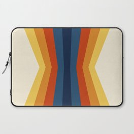 Bright 70's Retro Stripes Reflection Laptop Sleeve