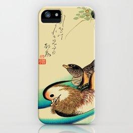 Mandarin Ducks - Vintage Japanese Art iPhone Case
