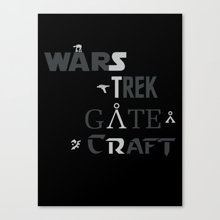 Geek All Stars Canvas Print