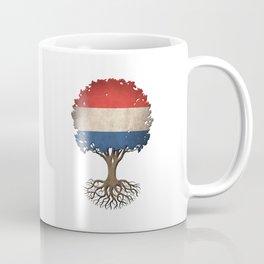 Vintage Tree of Life with Flag of The Netherlands Coffee Mug