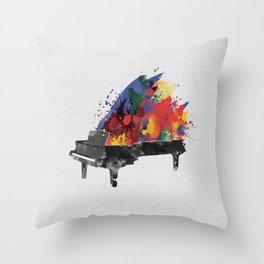 Symphony Series: The Piano Throw Pillow
