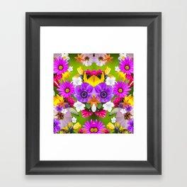 Flower mess - Pink Chaos Framed Art Print