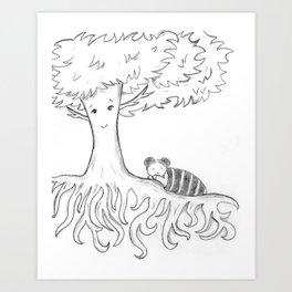 Sleeping Tree Art Print