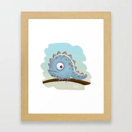 Cute Iguana Framed Art Print