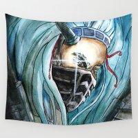 warrior Wall Tapestries featuring Warrior by Anna Pietrawska