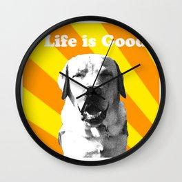 Sunny pup Wall Clock
