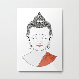 Life of Buddha Metal Print