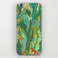 cacti iPhone & iPod Skins featuring Cacti by Gaby D'Alessandro