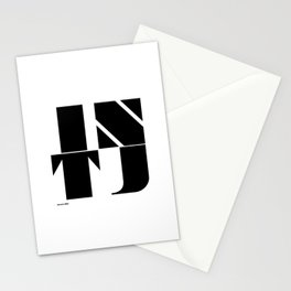 Type Type for INTJ Stationery Cards