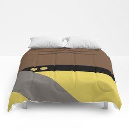 Worf - Minimalist Star Trek TNG The Next Generation - Enterprise 1701 D - startrek - Trektangles Comforters