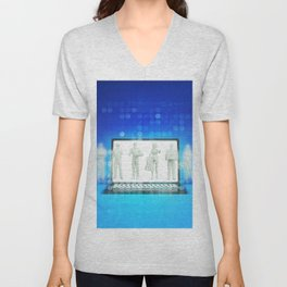 Online Shopping Concept for Products and Services Unisex V-Neck