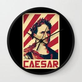Julius Caesar Retro Propaganda Wall Clock