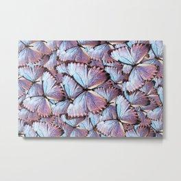 Iridescent Butterflies Metal Print