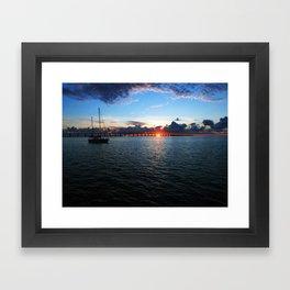 Key Largo, Florida Sunrise Framed Art Print