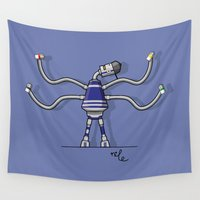 robot Wall Tapestries featuring Robot  by Nile