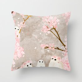 Cherry Blossom Party Throw Pillow