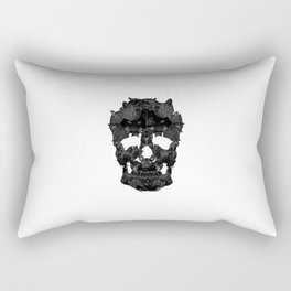 Sketchy Cat skull Rectangular Pillow