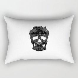 Sketchy Cat skull Rectangular Pillow