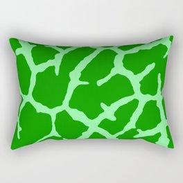 Green Giraffe Print Rectangular Pillow