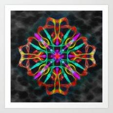Vibrant shield decoration Art Print