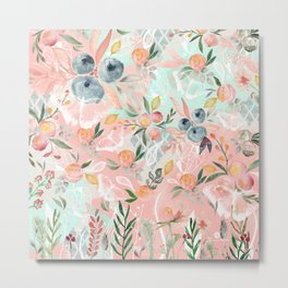 Abstract painting of flowers and plants Metal Print