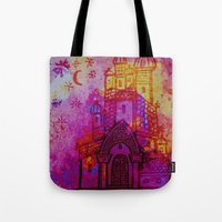 russia Tote Bags featuring Russia  by Kaxton