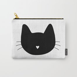 Cat Heart Nose Carry-All Pouch