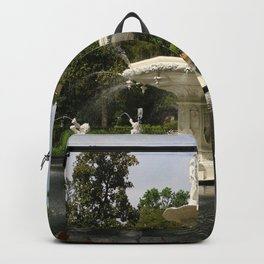 Forsyth Fountain in Forsyth Park Backpack