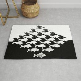 Escher - Sky and Water Rug
