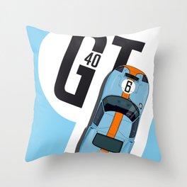 GT40 Le Mans 1968 Rodriguez-Bianchi Throw Pillow
