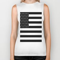 flag Biker Tanks featuring Flag by Blindspots Arts