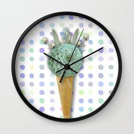 SUCCULENT CACTUS ICE CREAM Wall Clock