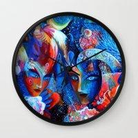 venice Wall Clocks featuring Venice by oxana zaika