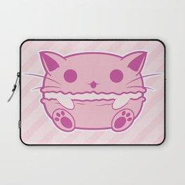 Pink Kawaii Cat Macaroon Laptop Sleeve