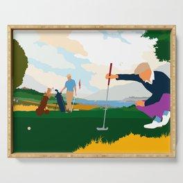 Golf In Ireland Serving Tray