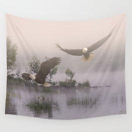 Eagles at Dawn Wall Tapestry