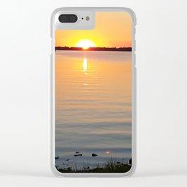 Orange Sunset Clear iPhone Case
